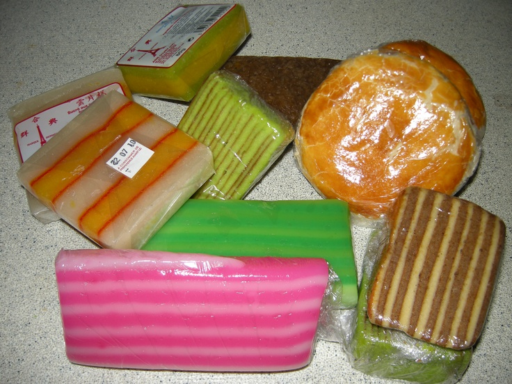Indonesian food: cake: several species of kue lapis Nothing tastes as good as kwee lapis pandan though! xS