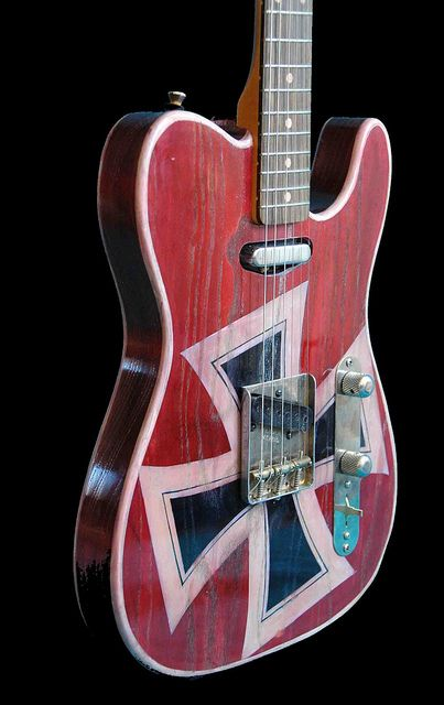 Telecaster Red Baron hand painted by Miriam Paternoster