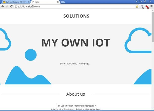 how to create a website for iot