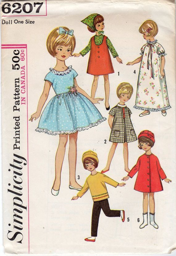 Simplicity 6207 doll clothes pattern - Google Search