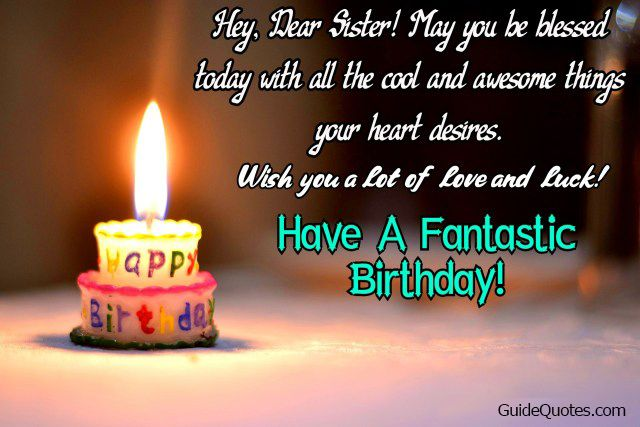 birthday wishes for sister quotes, funny birthday wishes for ...