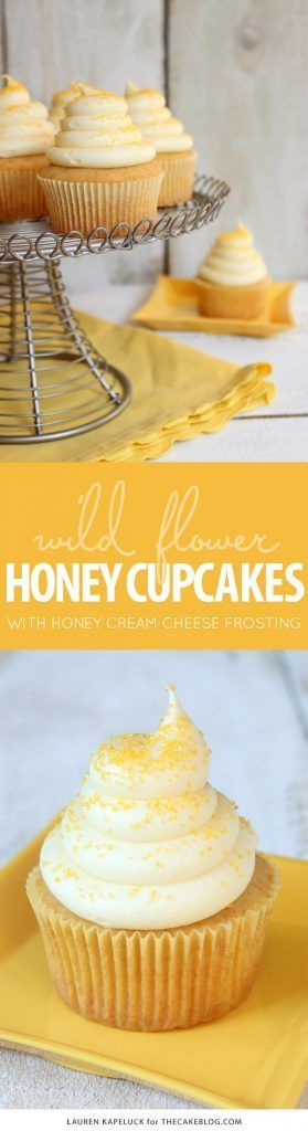 Honey Cupcakes with Honey Cream Cheese Frosting