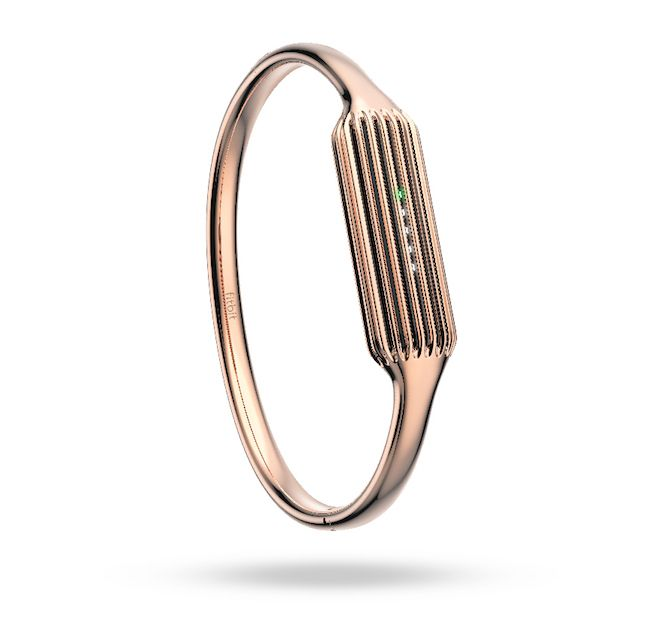 Stylish fitness trackers: The rose gold Fitbit Flex 2 tracker bangle is right on trend and helps you stay healthy too.