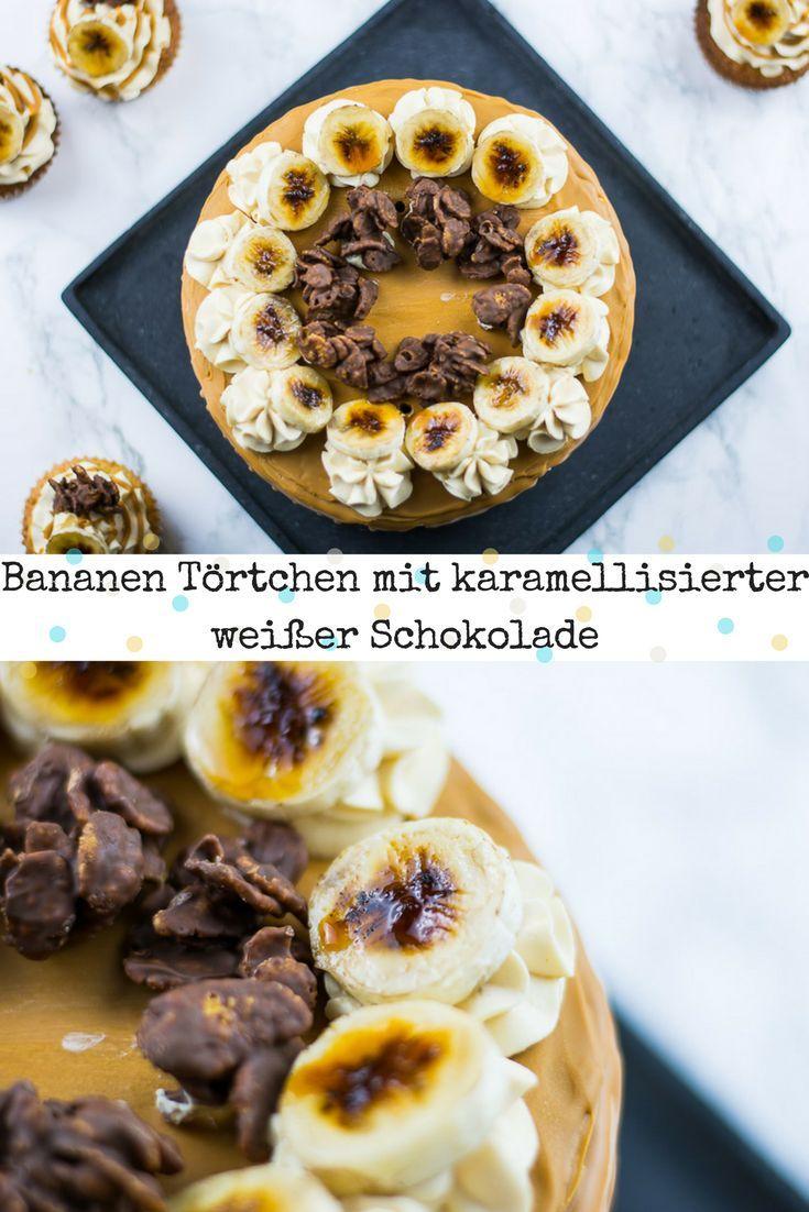 Saftige Bananentorte mit einer Cremigen Karamell Mascarpone Creme und karamellisierter weißer Schokolade. Eine super leckere Kombination. via @heissehimbeeren