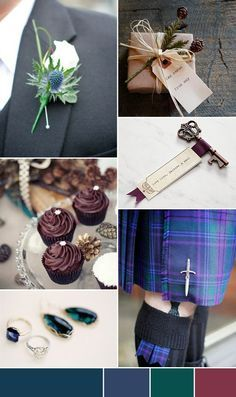 A Scottish Winter Wedding Theme