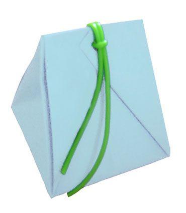 origami bo te pochette avec scoubidou pochette en. Black Bedroom Furniture Sets. Home Design Ideas