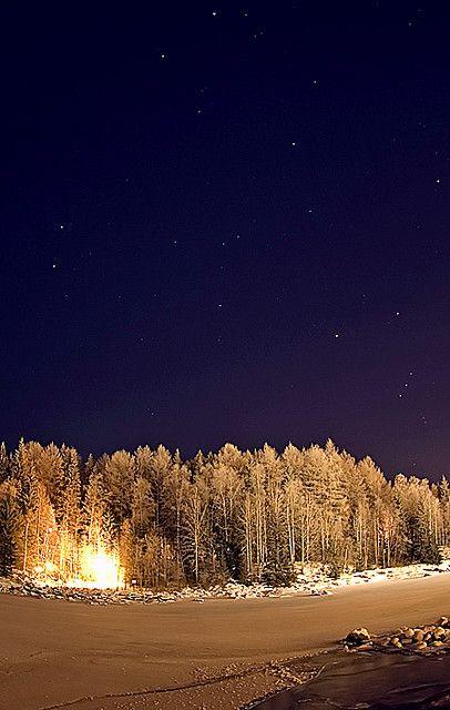 -22 Celcius....cold winter evening in Kajaani, Finland !!!