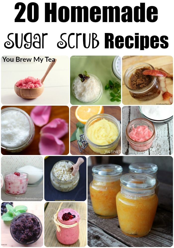 Homemade Sugar Scrub Recipes like these are easy to make and a great way to have a spa day at home for a fraction of the cost! Check out these 20 great ideas!