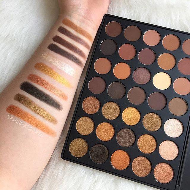 La 35R te encantará por su alta pigmentación y variedad de colores #Morphe #Eyeshadow #Sombras #Makeup