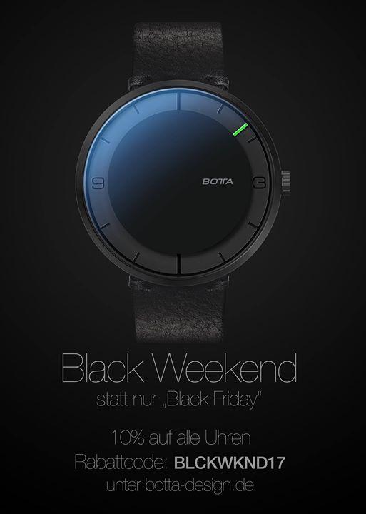black weekend statt nur black friday 10 auf alle uhren. Black Bedroom Furniture Sets. Home Design Ideas
