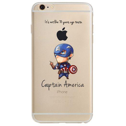 Ultra tenký kryt na iPhone 6 Plus, 6s Plus - iRaptor Funny Heroes Captain America RSH006