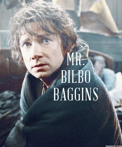 Mr. Bilbo Baggins, He's in shock! He's got a blanket! <--This comment.