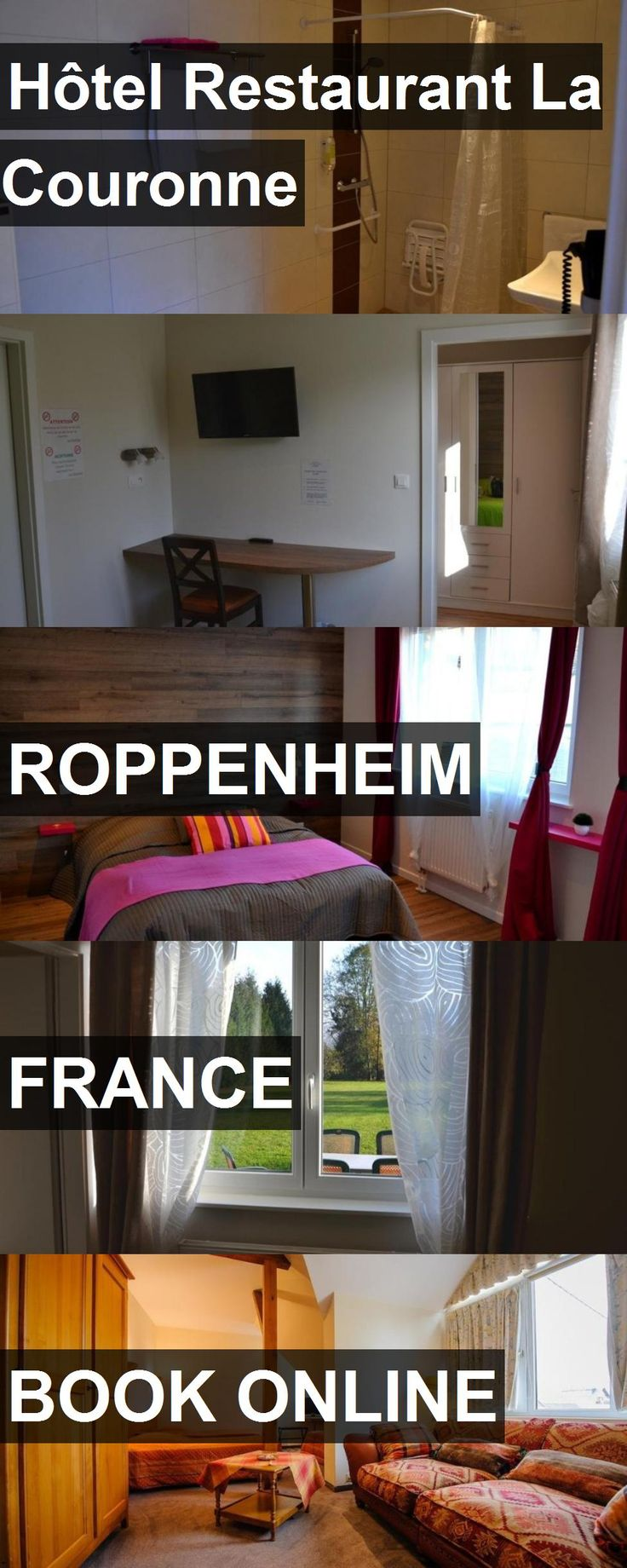 Hotel Hôtel Restaurant La Couronne in Roppenheim, France. For more information, photos, reviews and best prices please follow the link. #France #Roppenheim #travel #vacation #hotel