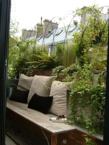Muebles de madera para balcones peque os patios terrazas - Muebles para balcones pequenos ...
