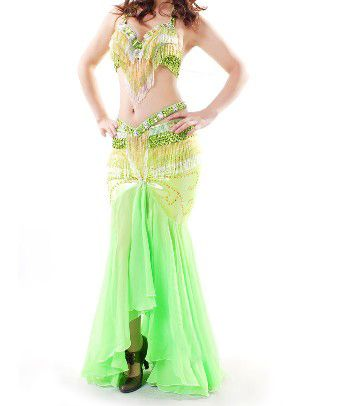 Opentip.com: (Price/2 pcs) BellyLady Professional Dancing Costume, Tribal Halter Bra Top And Belt Set