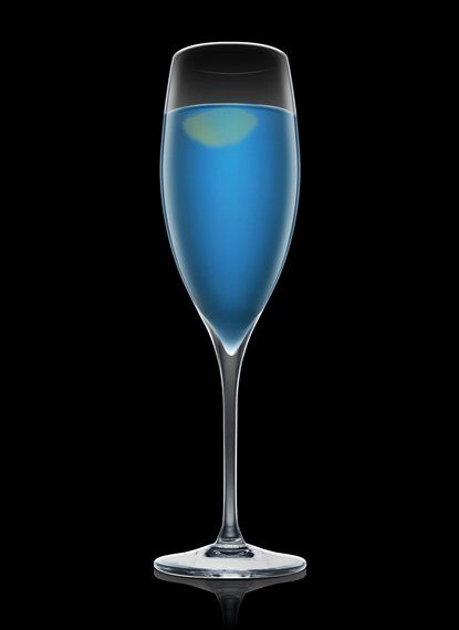 Strong Arm - Fill a mixing glass with ice cubes. Add all ingredients. Stir and strain into a chilled champagne glass. Garnish with lemon. 1 Part Absolut Vodka, 1 Part Gin, 1 Part Blue Curacao, 1 Peel Lemon