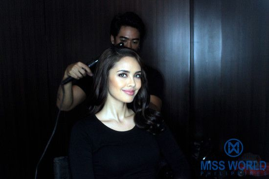 Miss World 2013 Megan Young getting ready for Miss World Philippines Media Conference at New World Makati Hotel.  Photo by: Dennis Natividad for Miss World Philippines Organization