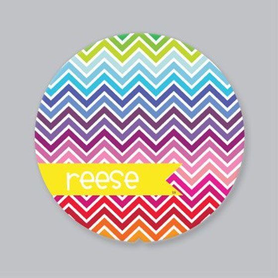 Personalised PlatesGirls Plates, Chevron Girls, Girls Generation, Rainbows Chevron, Beans Kids, Rainbows Parties, Lima Beans, Cake Plates, Kids Food