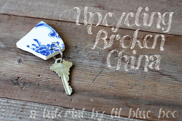 Upcycling Broken China (A Tutorial): Crafts Ideas, Keys Fobs, Keys Rings, Crafts Projects, Upcycled Broken, Broken China, Diy, Old China, Sea Glasses
