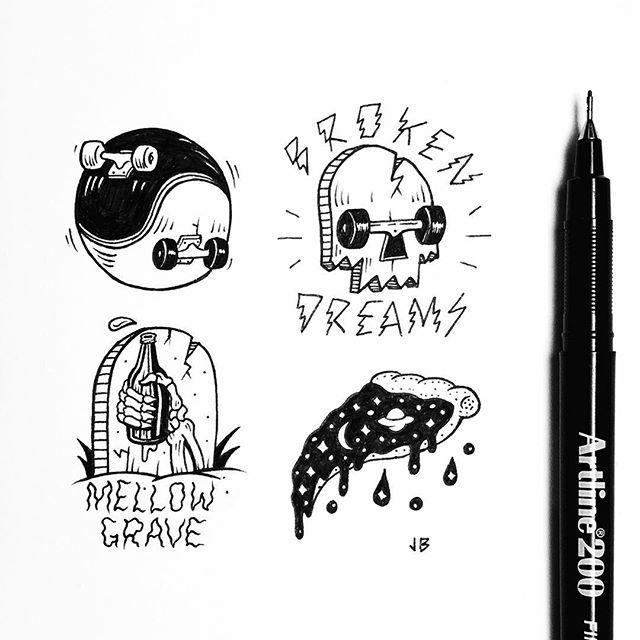 Mellow Monday Scribbles ✒️ @artline_au  #artline #goingpermanent #yinyang…