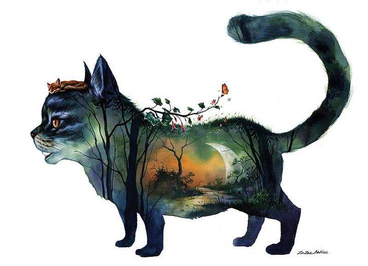 Surreal Watercolor Paintings by Zazac Namoo
