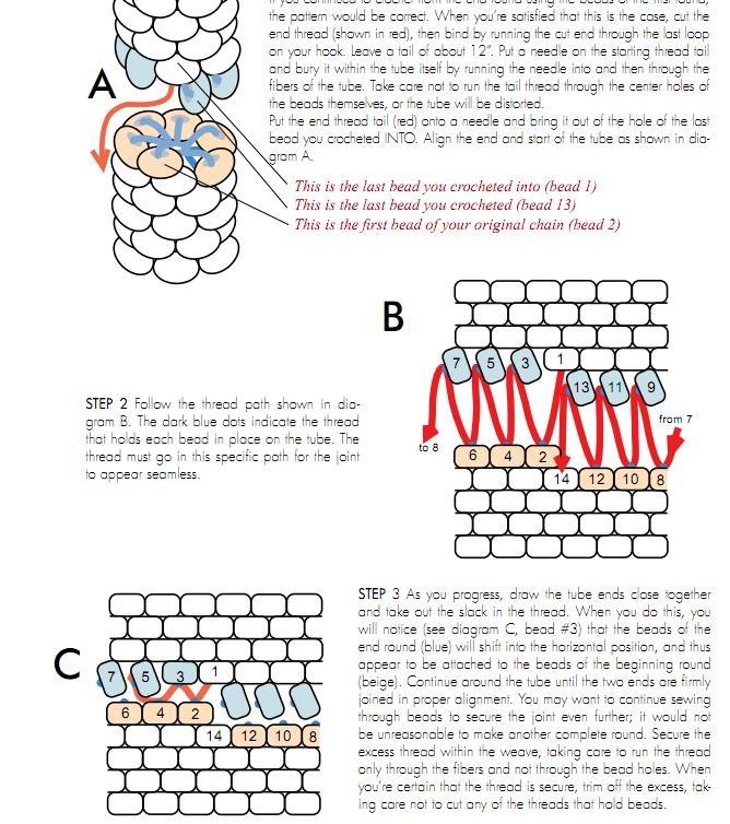 Cerrar una espiral de crochet tubular