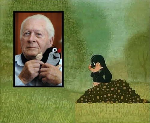 Zdeněk Miler (1921-2011) was a Czech animator and illustrator best known for his Mole (Krtek or Krteček in original) character and its adventures.