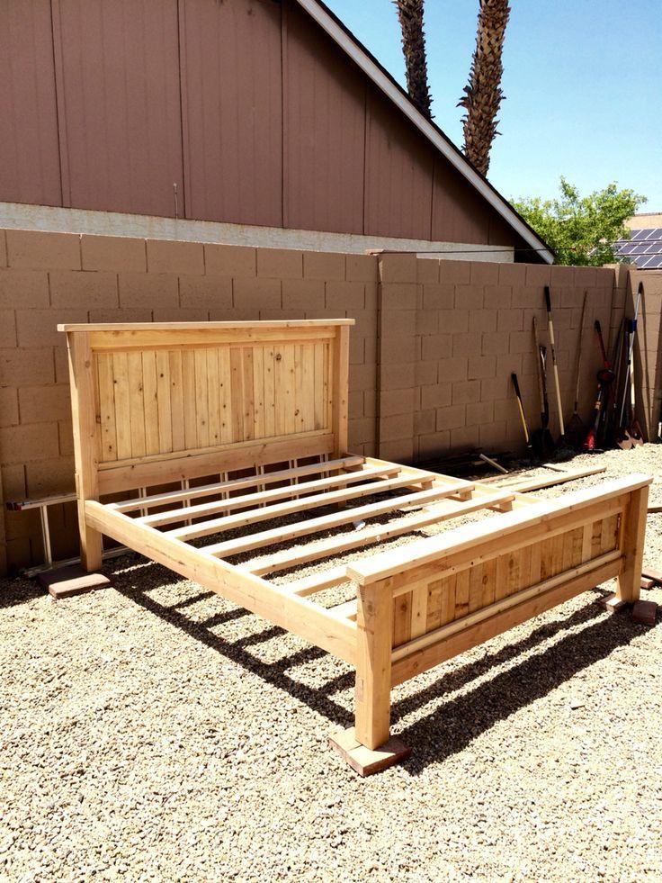 homemade bed | Diy Bed Frame on Pinterest Diy Bed Bed Frames and Platform Beds