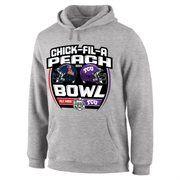 Ole Miss Rebels vs. TCU Horned Frogs 2014 Peach Bowl Dueling Stadium Showdown Pullover Hoodie – Gray