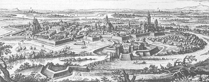1655.Hanau during Thirty Years' War, Hanau-Topographia Hassiae, scan of the historical book by http://www.digitalis.uni-koeln.de/ digitaletexte.html