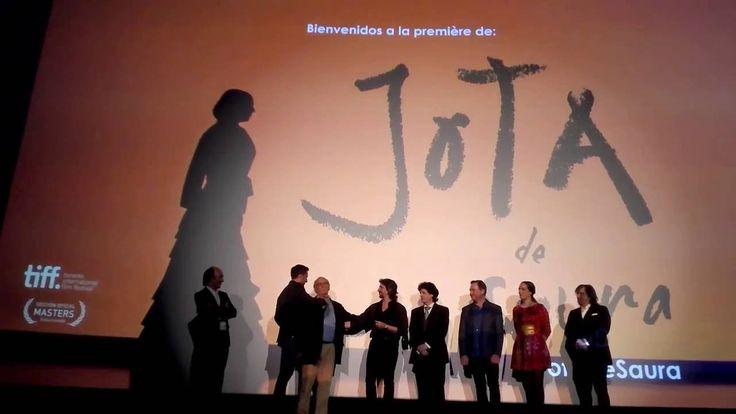 CARLOS SAURA con MIGUEL ANGEL BERNA presentan JOTA en Zaragoza