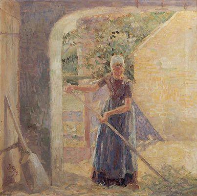 Jan Toorop, A peasant girl on Walcheren - 1904