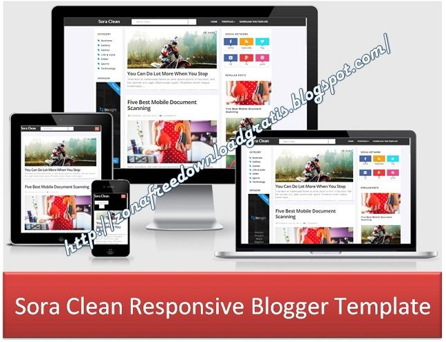 Sora Clean Responsive Blogger Template. More templates see at http://zonafreedownloadgratis.blogspot.com/