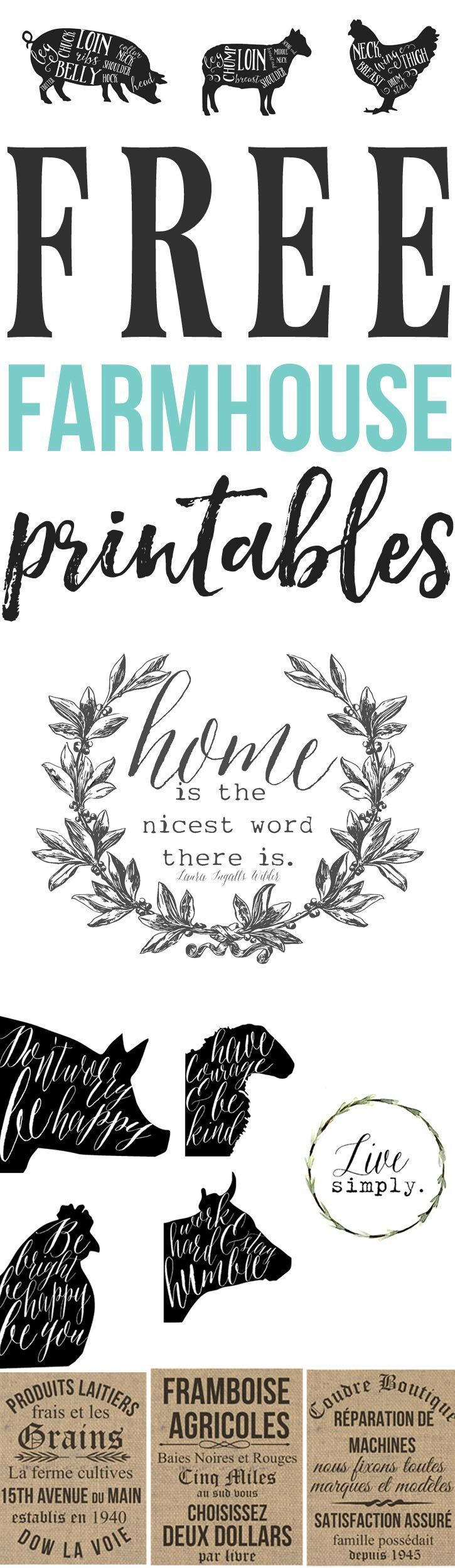 Free farmhouse printables! If you are anything like me than you love a good free printable! Its an added bonus if its farmhouse inspired! I have been working on