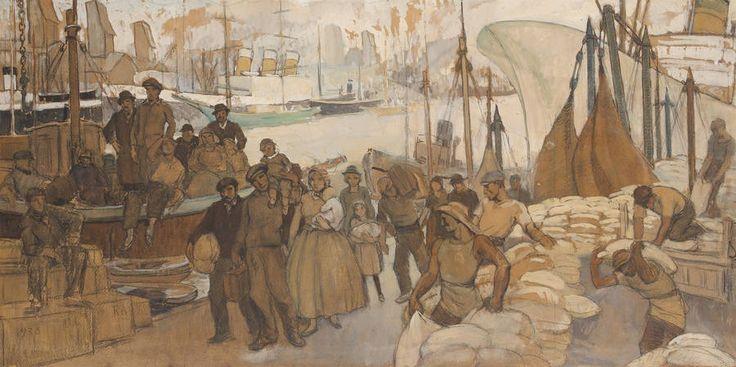 Le déchargement du navire(1938) Benito Quinquela Martín
