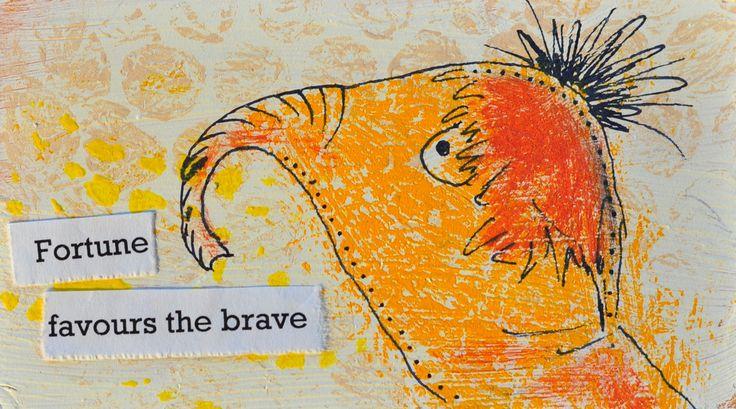 Bravery. Miniature art by Bea Pierce.