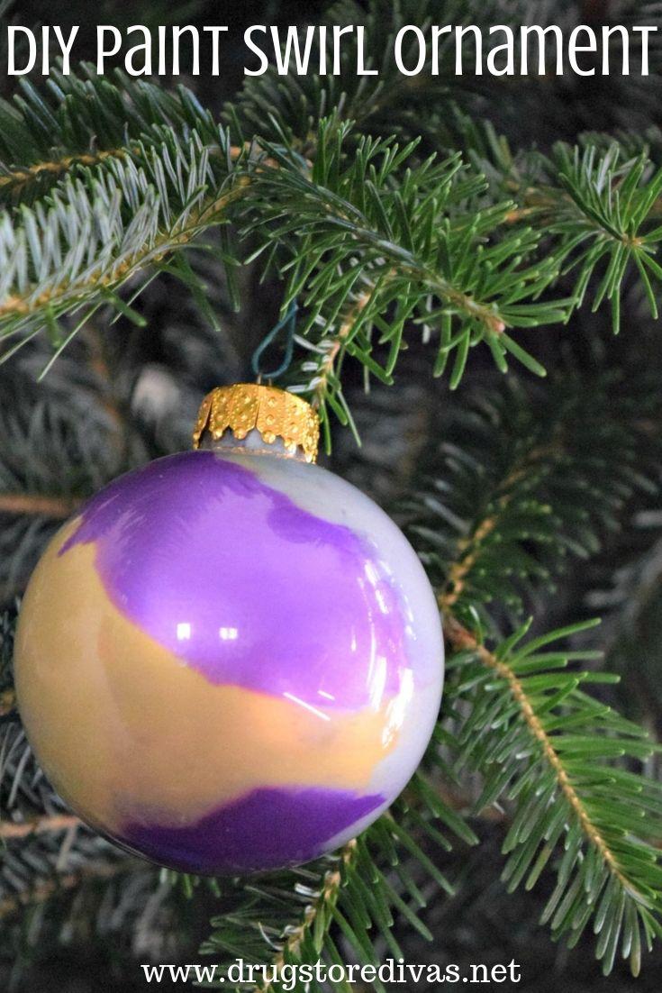 Diy Paint Swirl Ornament Drugstore Divas Christmas Decorations Garland Christmas Decorations Rustic Holiday Decor Christmas