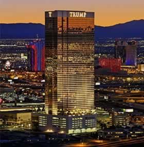 REAL GOLD ~ The windows that cover the Trump Hotel Tower in Las Vegas are coated with real gold. 24 carat gold. Yup. Told ya. Neener neener. http://en.wikipedia.org/wiki/Trump_Hotel_Las_Vegas