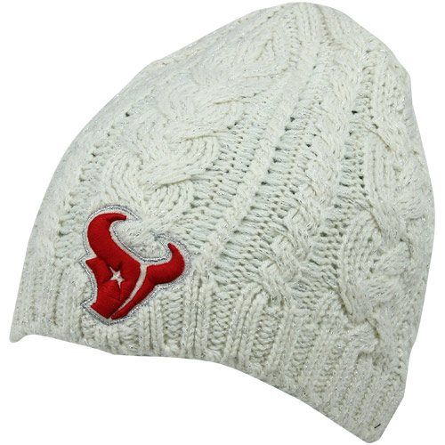 Houston Texans Ladies Shawnee Knit Hat - Natural
