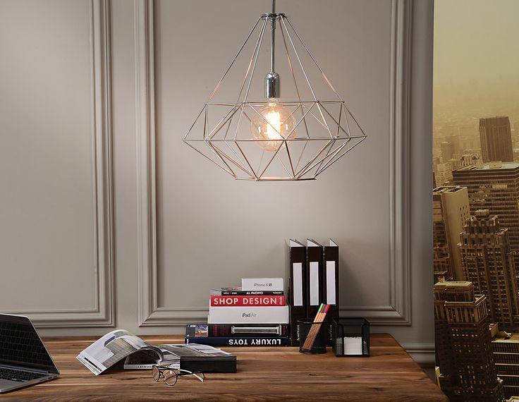 LAMPA WISZĄCA Kolekcja:Minimal HS Rozmiar: 48,0 x 48,0 x 120,0 cm Kolor:Chrome Materiał:Metal