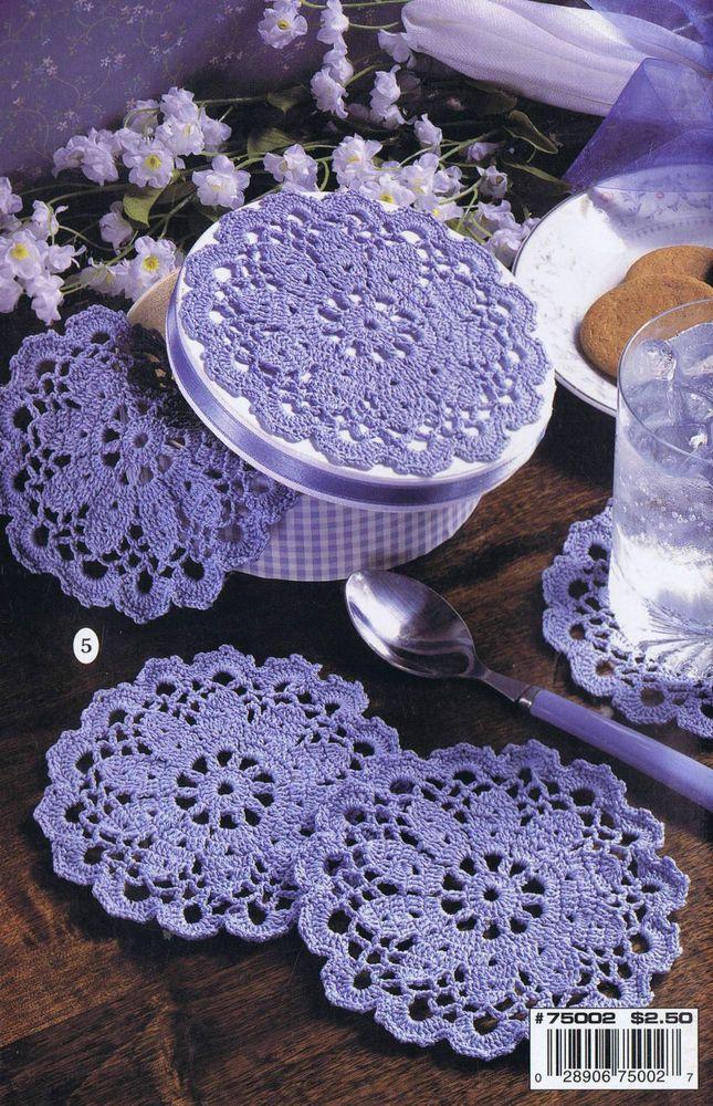 9 Easy Crochet Patterns HOW TO CROCHET THREAD EDGES DOILIES BOOKMARK LEISURE ART