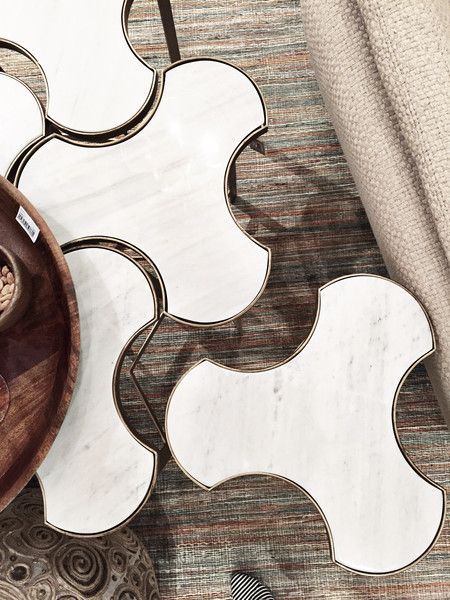 Link bunching table – Greige Design -- if we did a simple rug, these would be awesome as a coffee table
