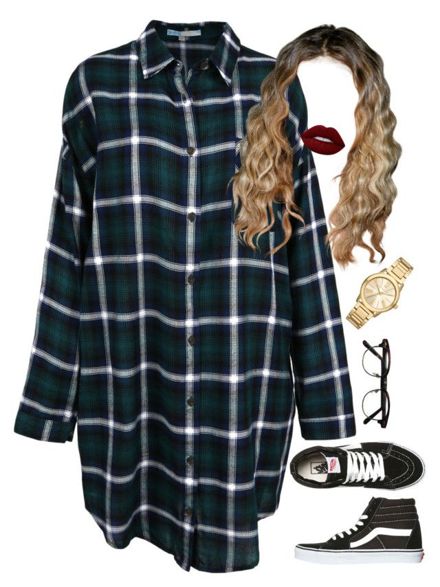 """""""9.28.16"""" by mcmlxxi ❤ liked on Polyvore featuring Vans, Lime Crime and Michael Kors"""