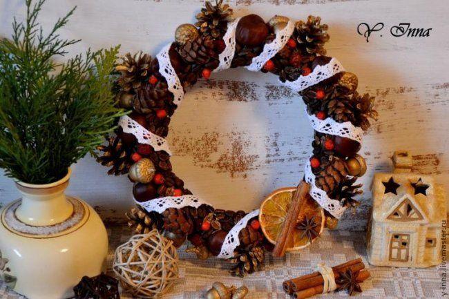 Делаем рождественский венок «Волшебный аромат» своими руками
