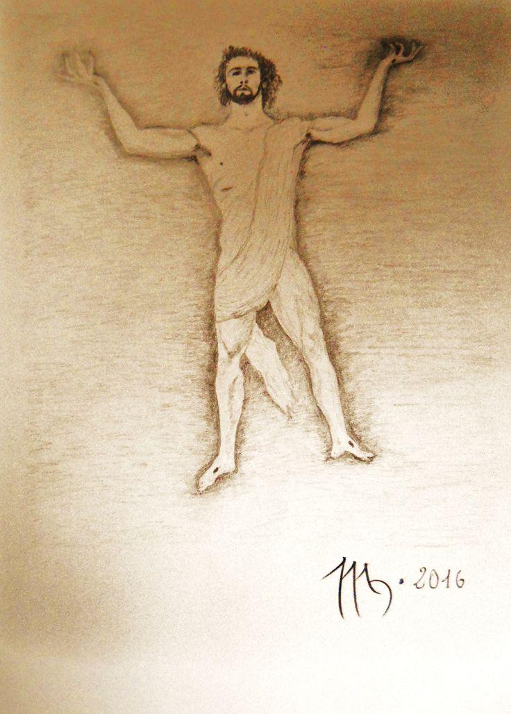 IL NUOVO ADAMO  disegno matita 9B su carta Fabriano A2
