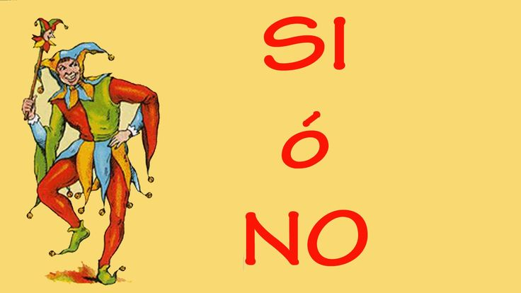 Curso Baraja Española Tirada del SI o NO