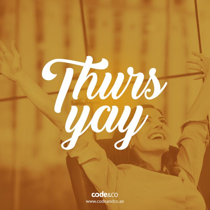 Thurs-yay! We're pumped for the weekend! 🎉 Do you have anything planned? Share them with us in the comments! 😎  #webdesign #dubai #mydubai #uae #website #agencylife #happy #business #digitalmarketing #ux #ui #marketing #digitalworld #design #branding #seo #mobile #UI #html5 #webdev #webdesigndubai #webdesignkuwait #webdesignriyadh #socialmedia #socialmediamarketing #socialmediadubai #socialuae #socialmediakuwait #socialmediastats #statistics #typography #text #thursday #weekend