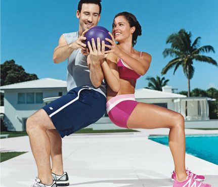 Couples workout. The couple that plays together, stays together..