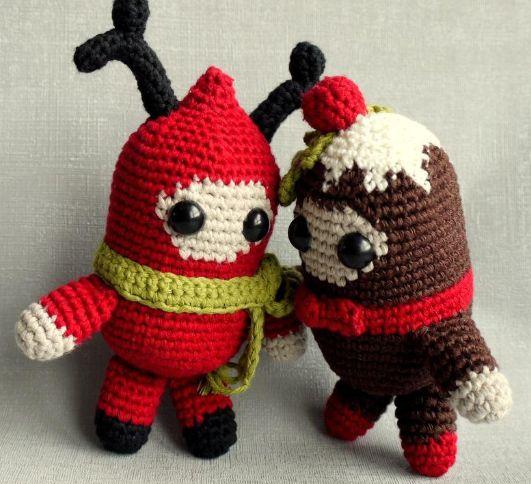 Free Christmas Knitting Patterns Snowman : Free christmas amigurumi pattern holiday spirits