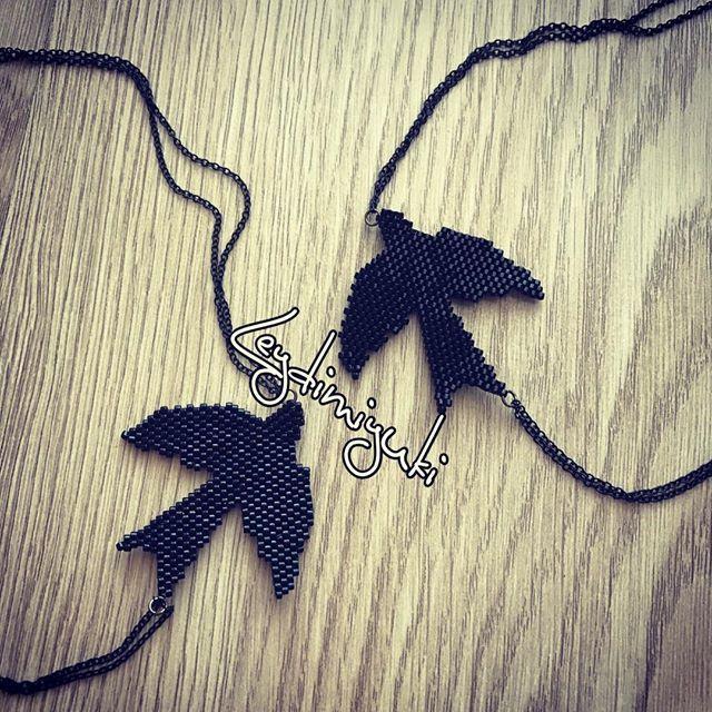 İki kuşumuz daha uçmaya hazır! #miyuki #miyukilove #miyukikolye #miyukibeads #miyukiaddict #bead #boncuk #black #bird #birds #kolye #necklace #takı #taktakıştır #simgenintakıları #leydimiyuki #aksesuar #jewellery #handmade #handmadejewelry #handmadejewellery #madewithlove #izmir #ödemiş #izmirturkey #perlesmiyuki